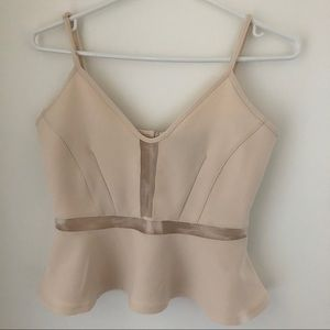 H&M Tank with Sheer Panelling - Light Pink